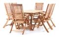 Dřevěný zahradní nábytek LOSANE SET 6 stolová sestava