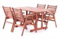 Dřevěný zahradní nábytek MERILIN 4 + luxusní sedáky ZDARMA