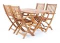 Dřevěná skládací stolová sestava WEEKEND 4