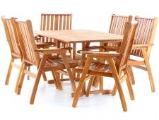 Dřevěný zahradní nábytek NEVADA VeGA 6 stolová sestava