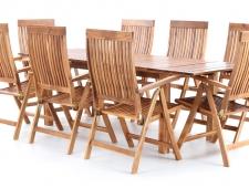 Dřevěný zahradní nábytek TORINO VeGA set 8